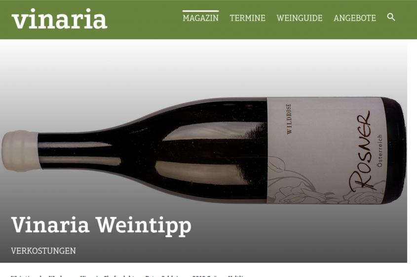 Vinaria Weintipp: Wildrose Grüner Veltliner vom Weingut Rosner